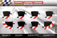 Carrera Evolution + Digital 132 / 124 20590 Innenrandstreifen Kurve 1/30°, 6 Stück