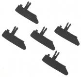 SlotInvasion Ersatzteile + Zubehör 7981105 Leitkiel Ersatz Für Carrera 132/124 (schwarz) 5 Stück