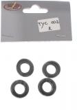 Thunderslot Ersatzteile + Zubehör TYC002R Profilreifen Hinterachse 10,8 x 19mm (4 Stück)